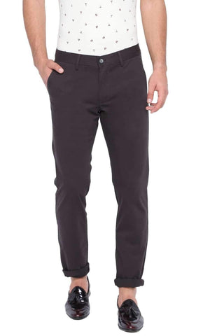 BASICS TAPERED FIT BLACK INK STRETCH TROUSER-20BTR46059