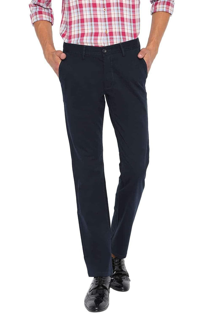 BASICS TAPERED FIT BLUE NIGHTS STRETCH TROUSER-20BTR46060
