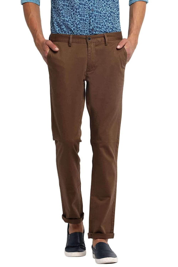 BASICS TAPERED FIT KANGAROO STRETCH TROUSER-20BTR46068