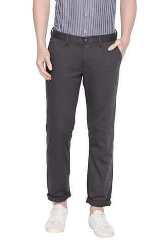 BASICS TAPERED FIT FORGED IRON STRETCH TROUSER-20BTR46072