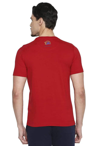 CSK ORIGINAL IPL PERIYA WHISTLE ADINGA RED CREW NECK T SHIRT (4674316795985)