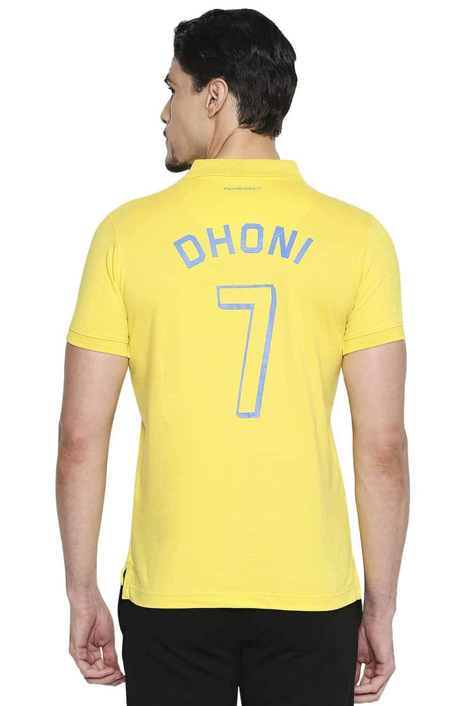CSK ORIGINAL IPL WHISTLEPODU YELLOW POLO T SHIRT (4674316894289)
