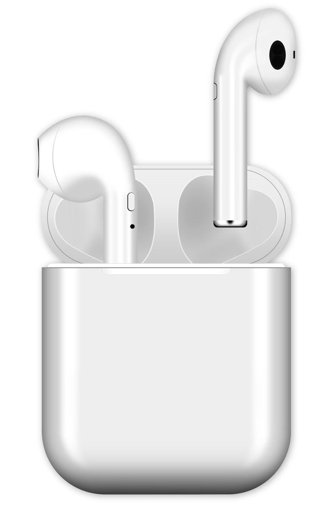 BASICS WHITE 100% PLASTIC WIRELESS EARPHONES-20BXP44983