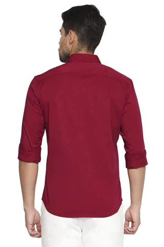BASICS SLIM FIT SCOOTER RED STRETCH SHIRT-21BSH44662