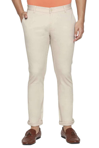BASICS TAPERED FIT FOG STRETCH TROUSER-21BTR44272