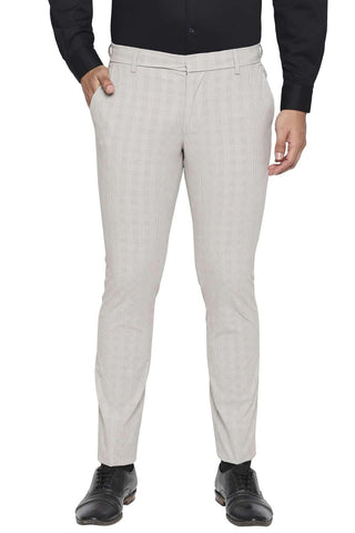 BASICS TAPERED FIT PORPOISE BEIGE STRETCH TROUSER-21BTR44754