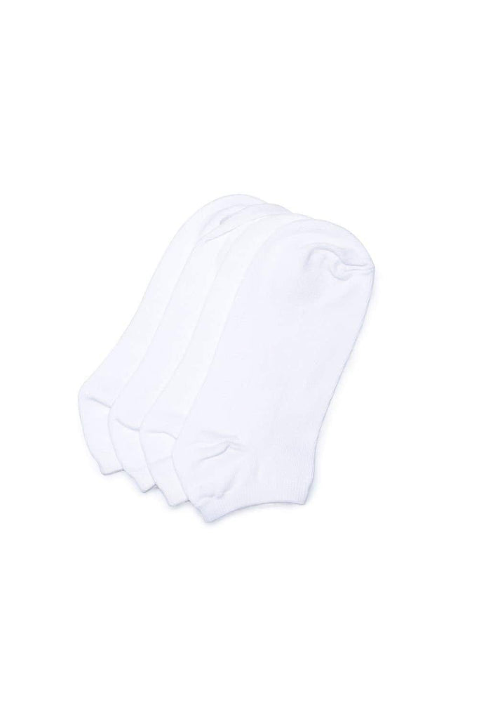BASICS ACCESSORIES MARSHMALLOW WHITE FOOTIE SOCKS-17BSK36519 (4491116544081)