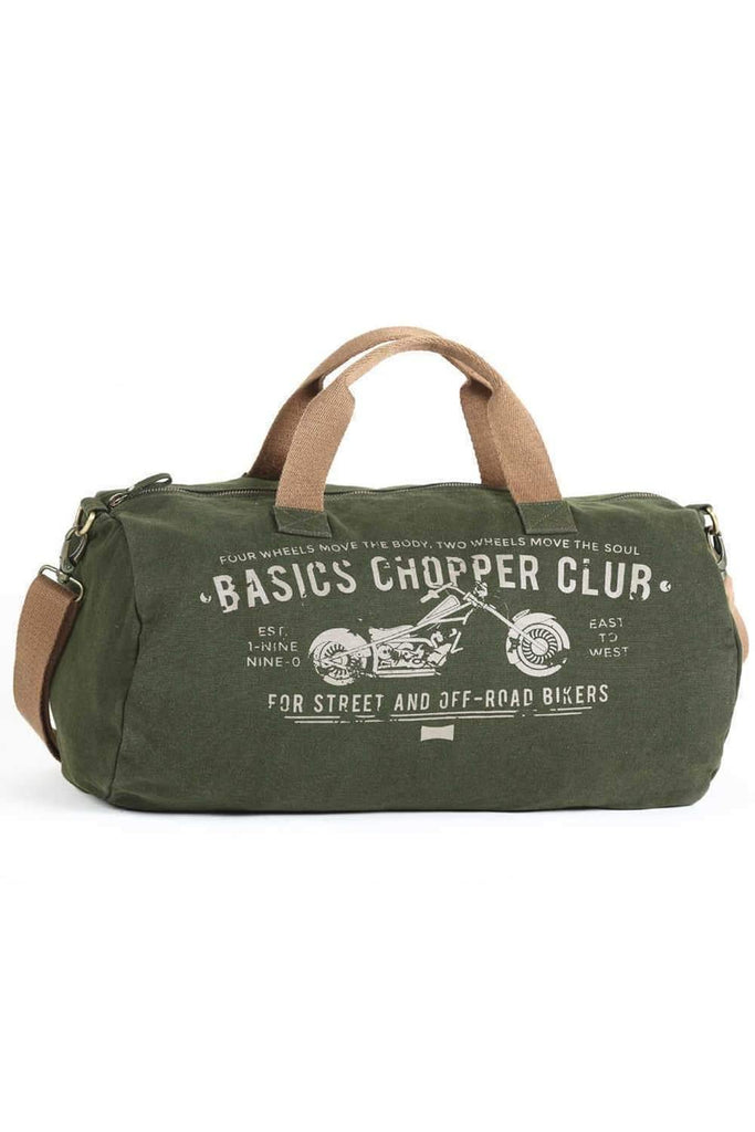 BASICS ARMY GREEN DUFFLE BAG-16BBG34002 - BasicsLife