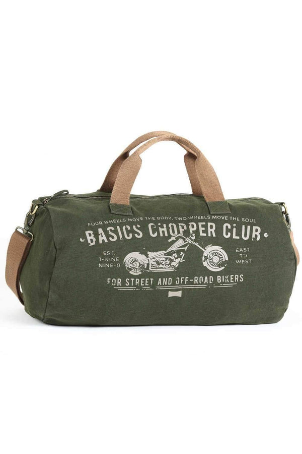 BASICS ARMY GREEN DUFFLE BAG-16BBG34002 (4490918527057)