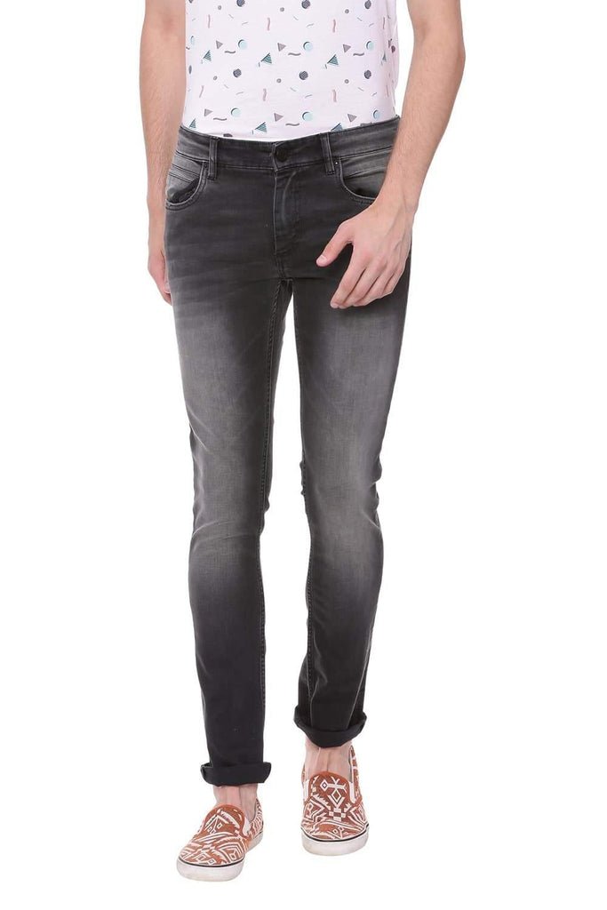 Basics Blade Fit Anthracite Black Stretch Jean Front