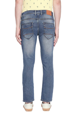 BASICS BLADE FIT COPEN BLUE STRETCH JEANS-20BJN43904 - BasicsLife