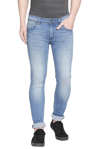 BASICS BLADE FIT CORONET BLUE STRETCH JEANS-20BJN43907 - BasicsLife
