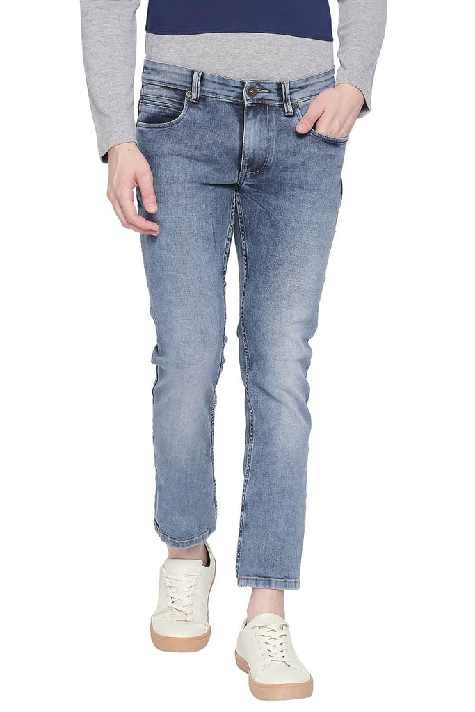 BASICS BLADE FIT DUSTY DLUE STRETCH JEANS-20BJN43892 (4527352741969)