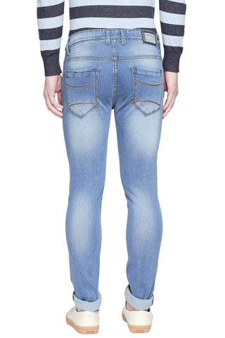 BASICS BLADE FIT FADED DENIM STRETCH JEANS-20BJN43884 - BasicsLife