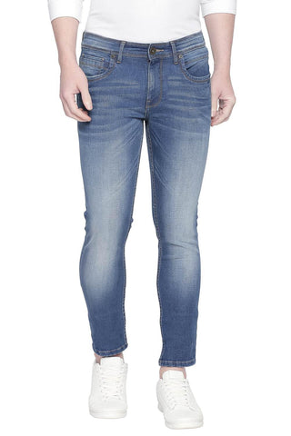 BASICS BLADE FIT MAJOLICA BLUE STRETCH JEANS-20BJN43891 - BasicsLife