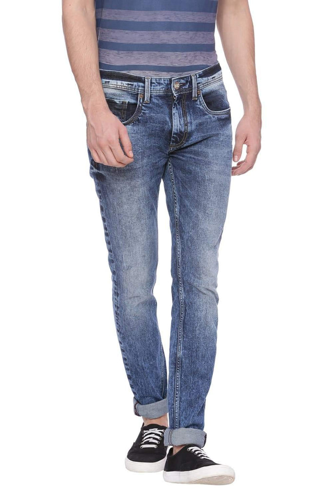 Basics Blade Fit Outer Space Blue Shade Jean Front