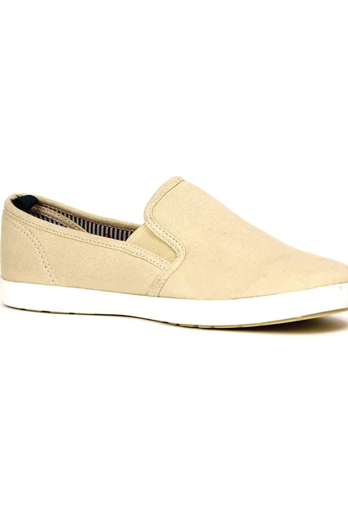 BASICS CASUAL PLAIN BEIGE 100% COTTON REGULAR SHOES-14BSE31079