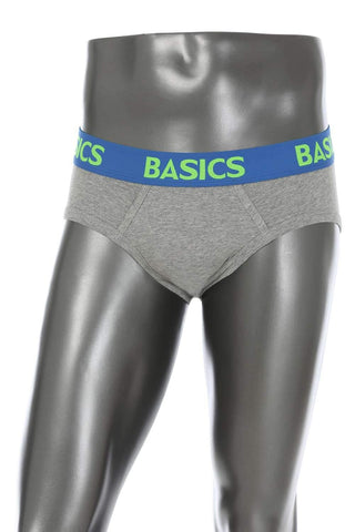 BASICS CASUAL PLAIN GREY COTTON ELASTANE HIP BRIEF BRIEF-15BBF32806 (4490958602321)