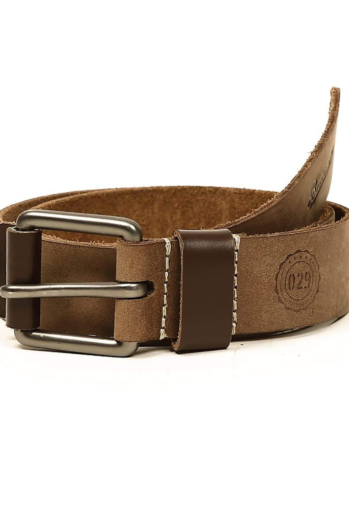 BASICS CASUAL PLAIN GREY LEATHER BELT-14BBL30937 (4490974625873)