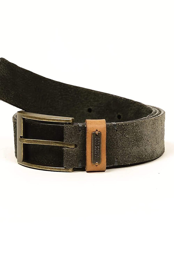 BASICS CASUAL PLAIN NAVY LEATHER BELT-14BBL30940 (4490975903825)