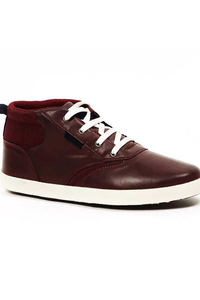 BASICS CASUAL PLAIN RED PU REGULAR SHOES-14BSE31082