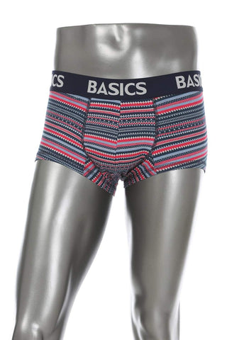 BASICS CASUAL PRINTED NAVY COTTON ELASTANE TRUNK BRIEF-15BBF32809 - BasicsLife