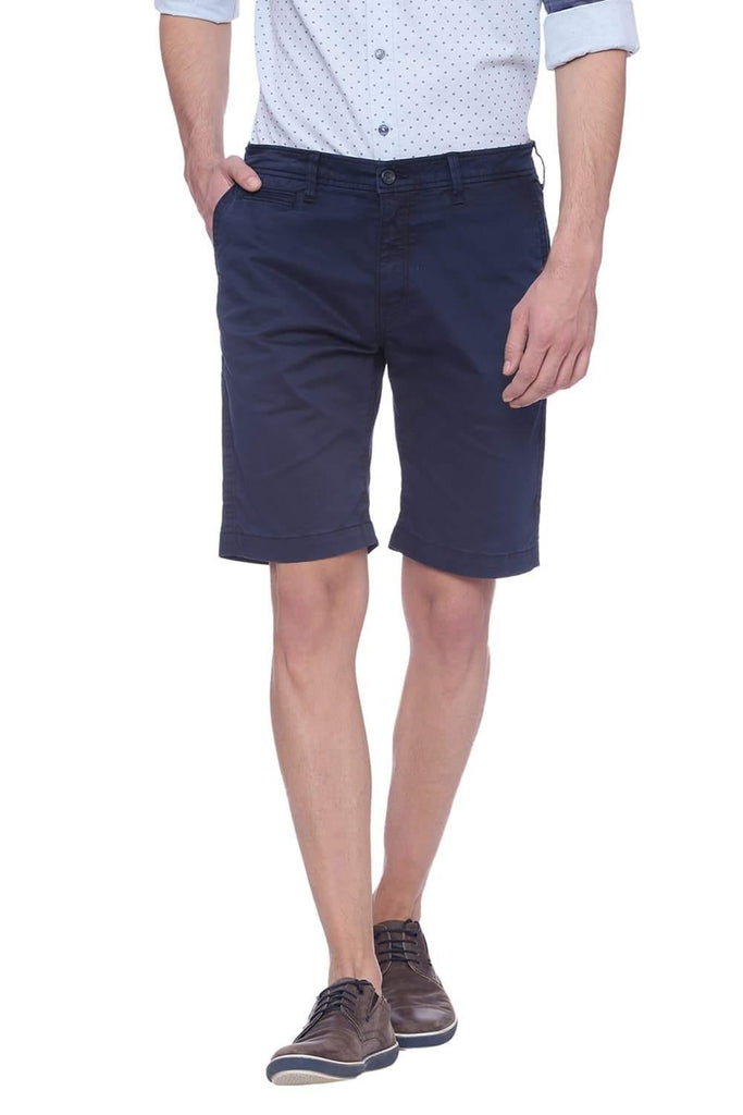 Basics Comfort Fit Black Iris Navy Shorts Front