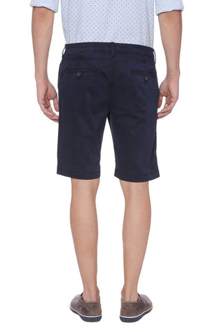 BASICS COMFORT FIT BLACK IRIS NAVY SHORTS-18BSS38072 (4491053006929)