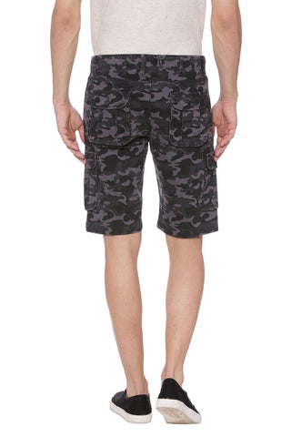 BASICS COMFORT FIT CASTLE ROCK GREY 6 POCKET CARGO SHORTS-18BSS37536 (4491097899089)