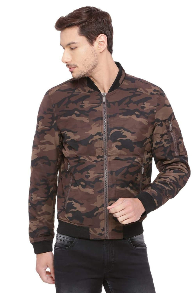 BASICS COMFORT FIT CHESTNUT QUILTED POLY FILL JACKET-18BJK39638 (4491537743953)