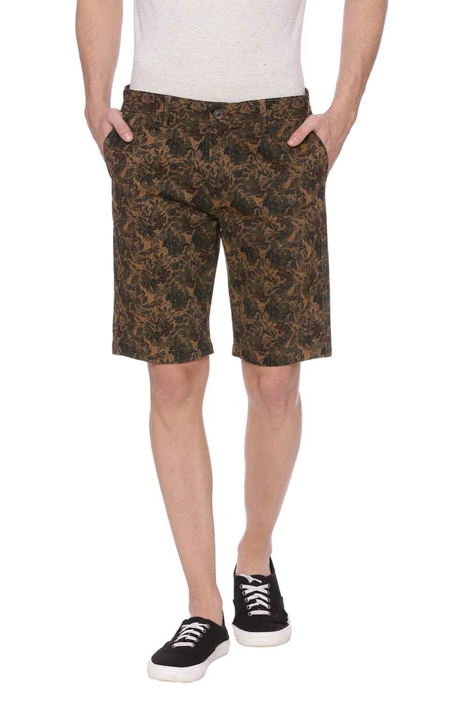 Basics Comfort Fit Chocolate Khaki Shorts Front