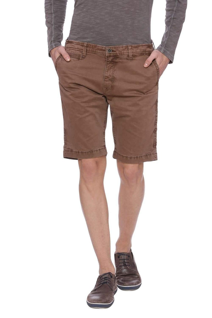 Basics Comfort Fit Cocoa Brown Shorts Front
