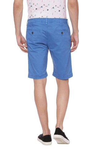 BASICS COMFORT FIT DEEP WATER BLUE SHORTS-18BSS37773 (4491052679249)