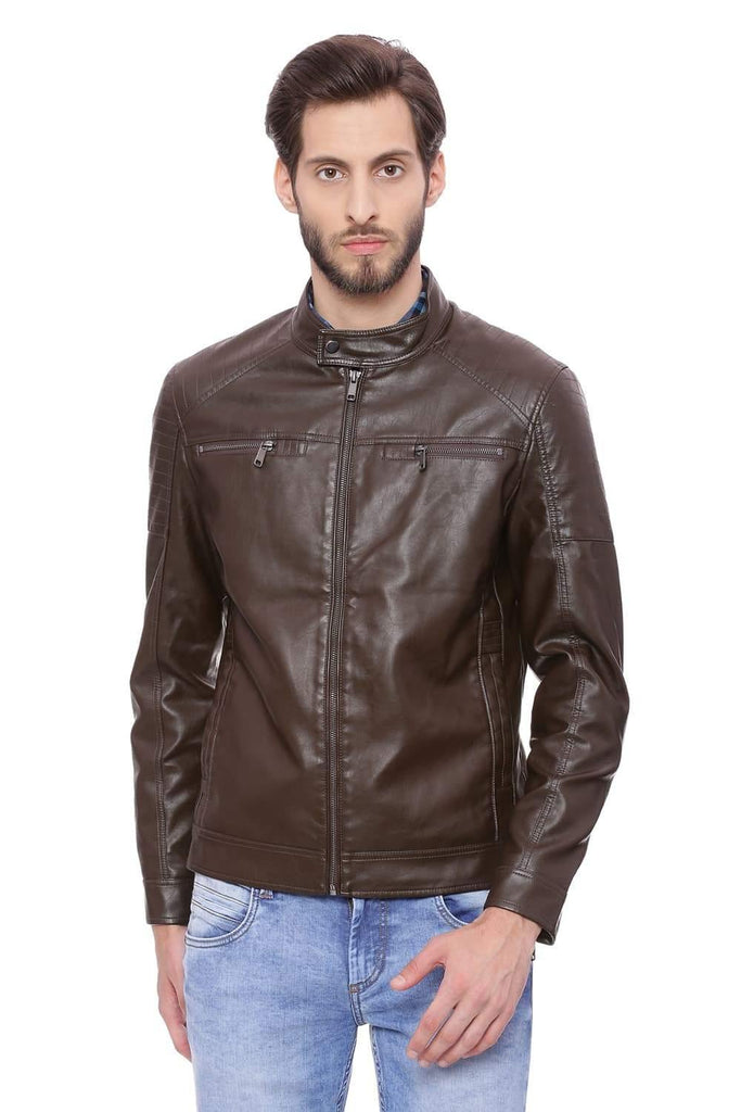 BASICS COMFORT FIT DELICIOSO FAUX LEATHER JACKET-18BJK39672 (4491540267089)