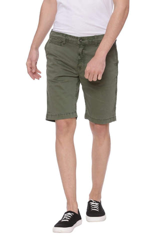 BASICS COMFORT FIT FOUR LEAF CLOVER GREEN SHORTS-18BSS37774 (4491052777553)