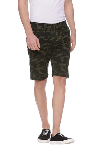 BASICS COMFORT FIT GRAPE LEAF OLIVE CAMO SHORTS-18BSS37538 (4491098030161)