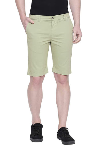 BASICS COMFORT FIT GREEN EYES TWILL STRETCH SHORTS-20BSS43352 (4491764465745)