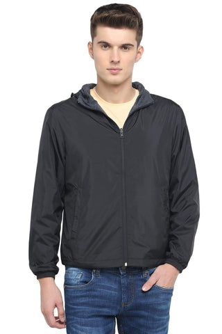 BASICS COMFORT FIT JET BLACK REVERSIBLE NO FILL JACKET-18BJK39622