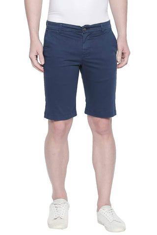 BASICS COMFORT FIT MAJOLICA BLUE TWILL STRETCH SHORTS-20BSS43355 (4491765055569)