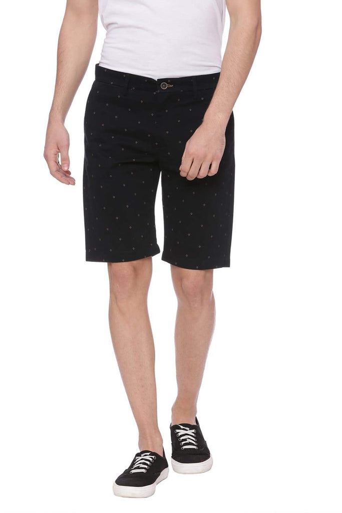 BASICS COMFORT FIT NIGHT SKY NAVY SHORTS-18BSS37546