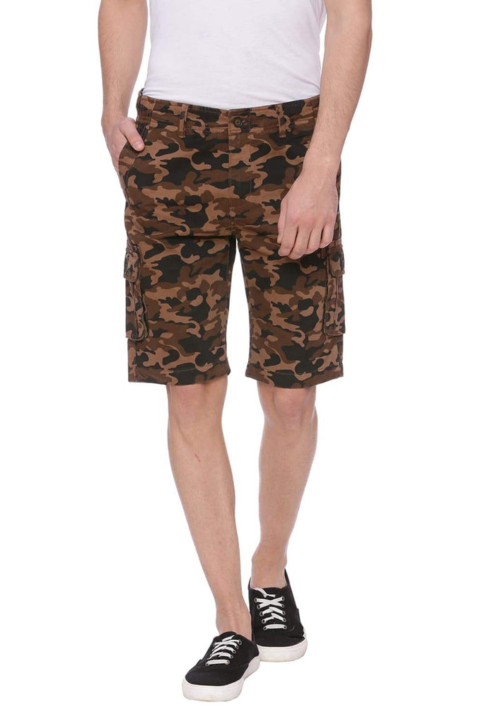 Basics Comfort Fit Otter Brown Cargo Shorts Front