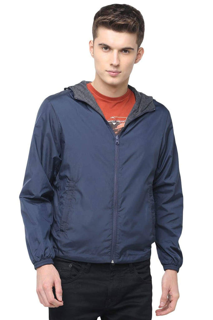 Basics Comfort Fit Outer Space Reversible Jacket