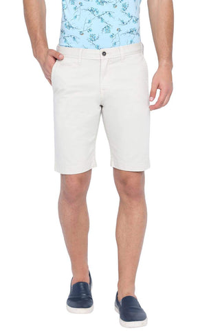 BASICS COMFORT FIT OYSTER GREY OVER DYED COTTON SHORTS-19BSS40228 (4491559436369)