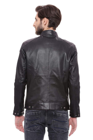 BASICS COMFORT FIT PHANTOM FAUX LEATHER JACKET-18BJK39679 (4491541741649)