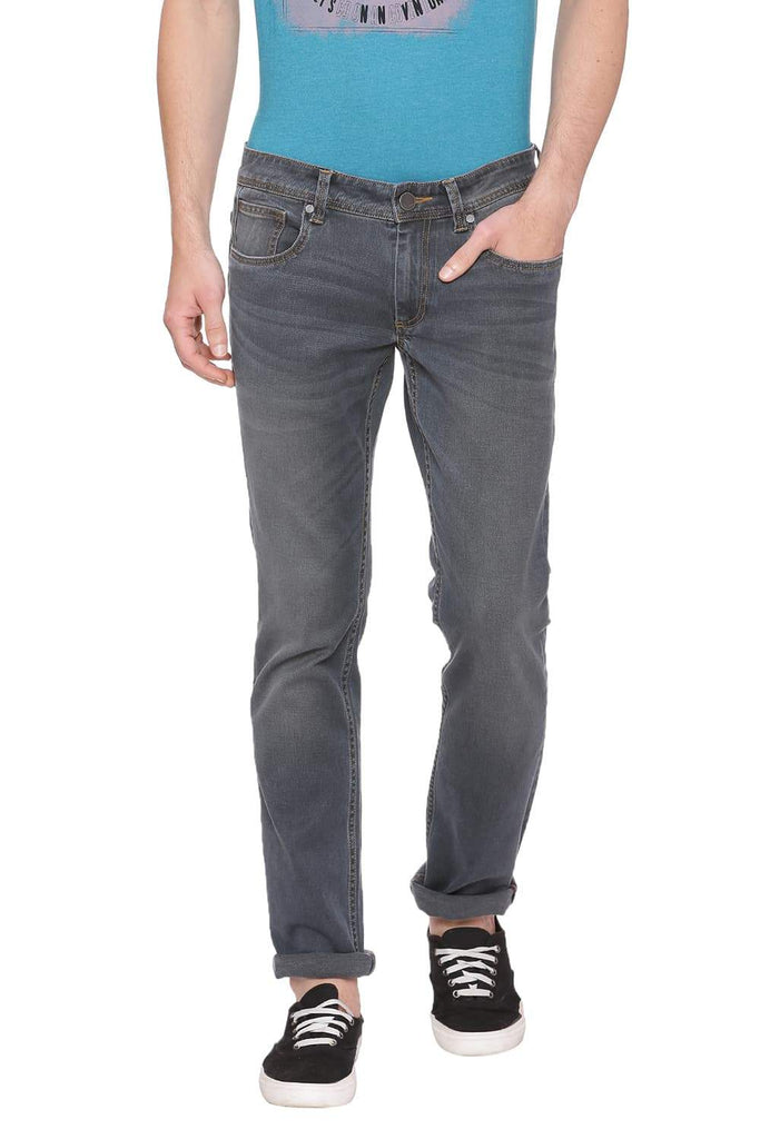 Basics Drift Fit Smoked Pearl Stretch Jean Front
