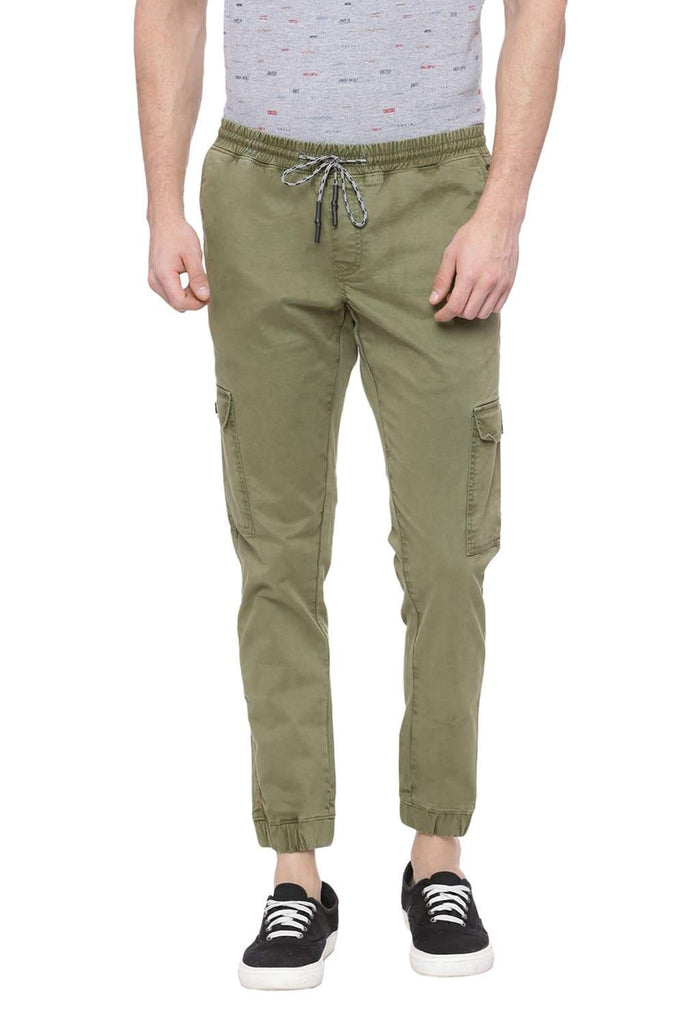 BASICS JOGGER FIT AVOCADO GREEN CARGO STRETCH JOGGER-18BCT38243 (4491038457937)