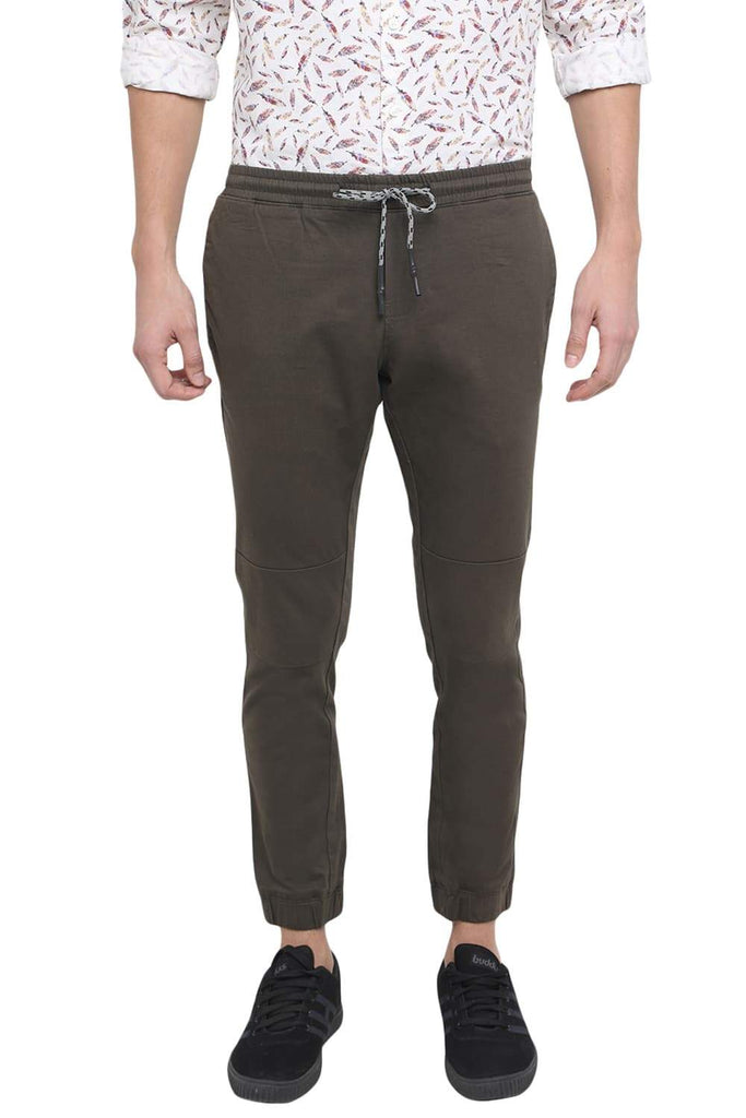 BASICS JOGGER FIT FOREST NIGHT STRETCH TROUSER-18BTR39190 (4491556618321)