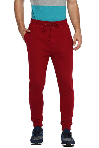 BASICS JOGGER FIT RIO RED KNITTED TRACK PANT-19BTP41059 (4491563401297)