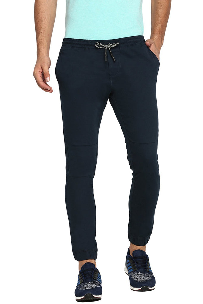 BASICS JOGGER FIT TOTAL ECLIPSE NAVY STRETCH TROUSER-18BTR39192 (4491558420561)