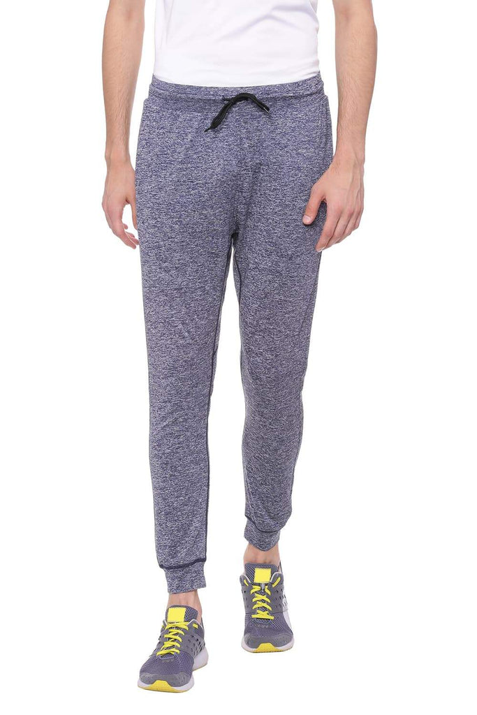 BASICS JOGGER FIT TWILIGHT BLUE KNITTED TRACK PANT-18BTP39586 (4491264950353)